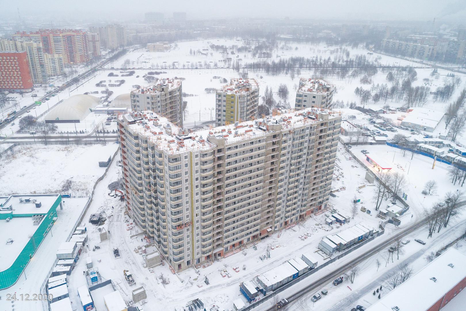 Ход строительства ЖК «Дом на Львовской» в декабре 2020