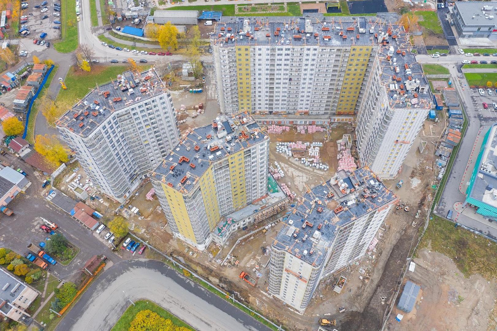 Ход строительства ЖК «Дом на Львовской» в октябре 2020