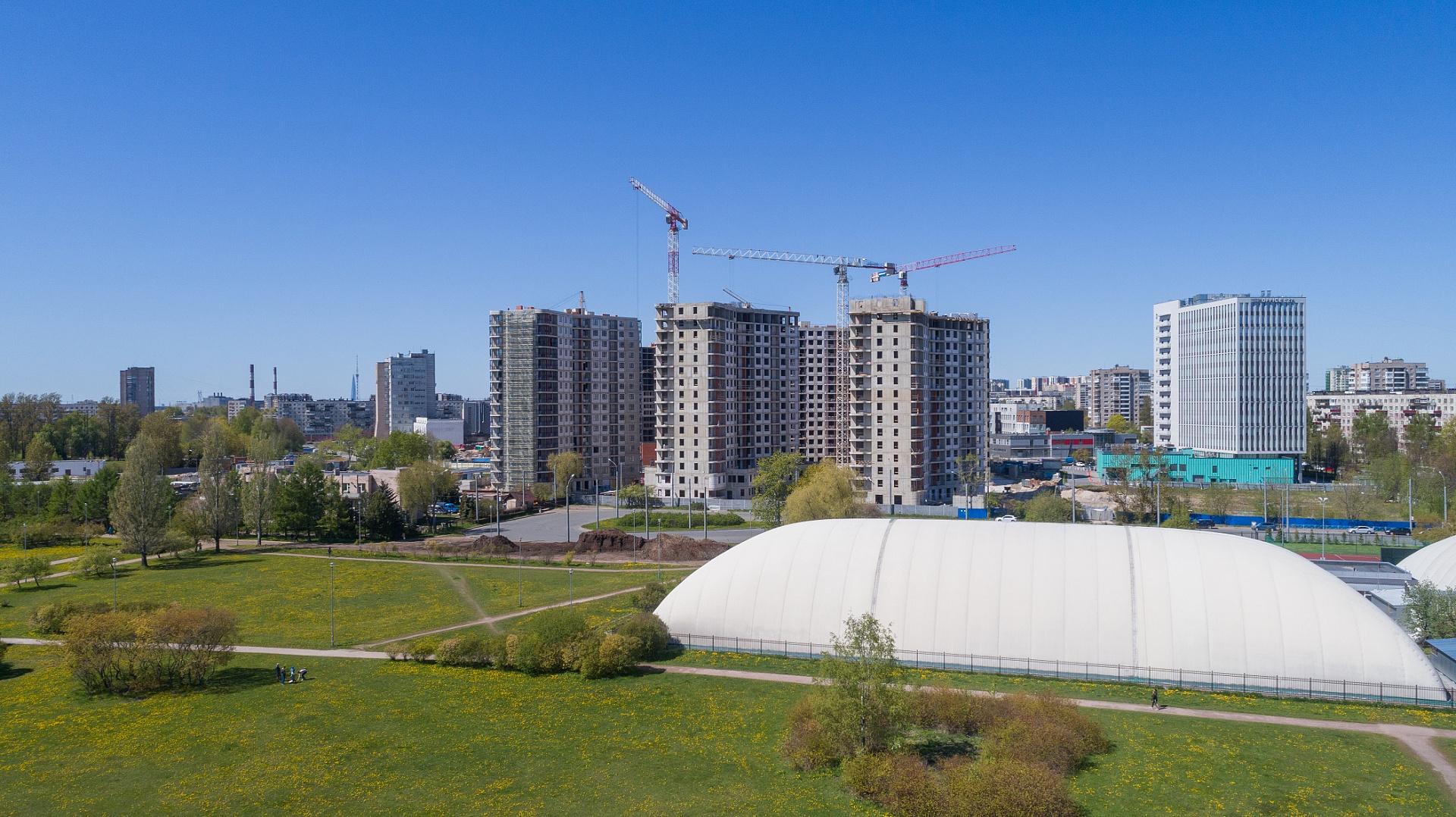 Ход строительства ЖК «Дом на Львовской» в апреле 2020