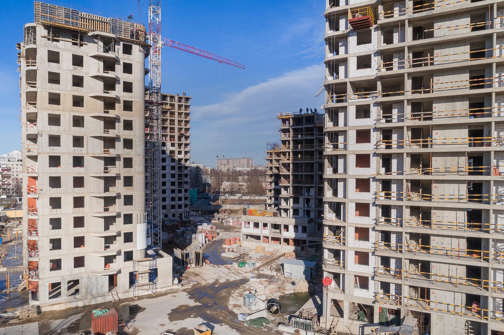 Ход строительства ЖК «Дом на Львовской» в марте 2020