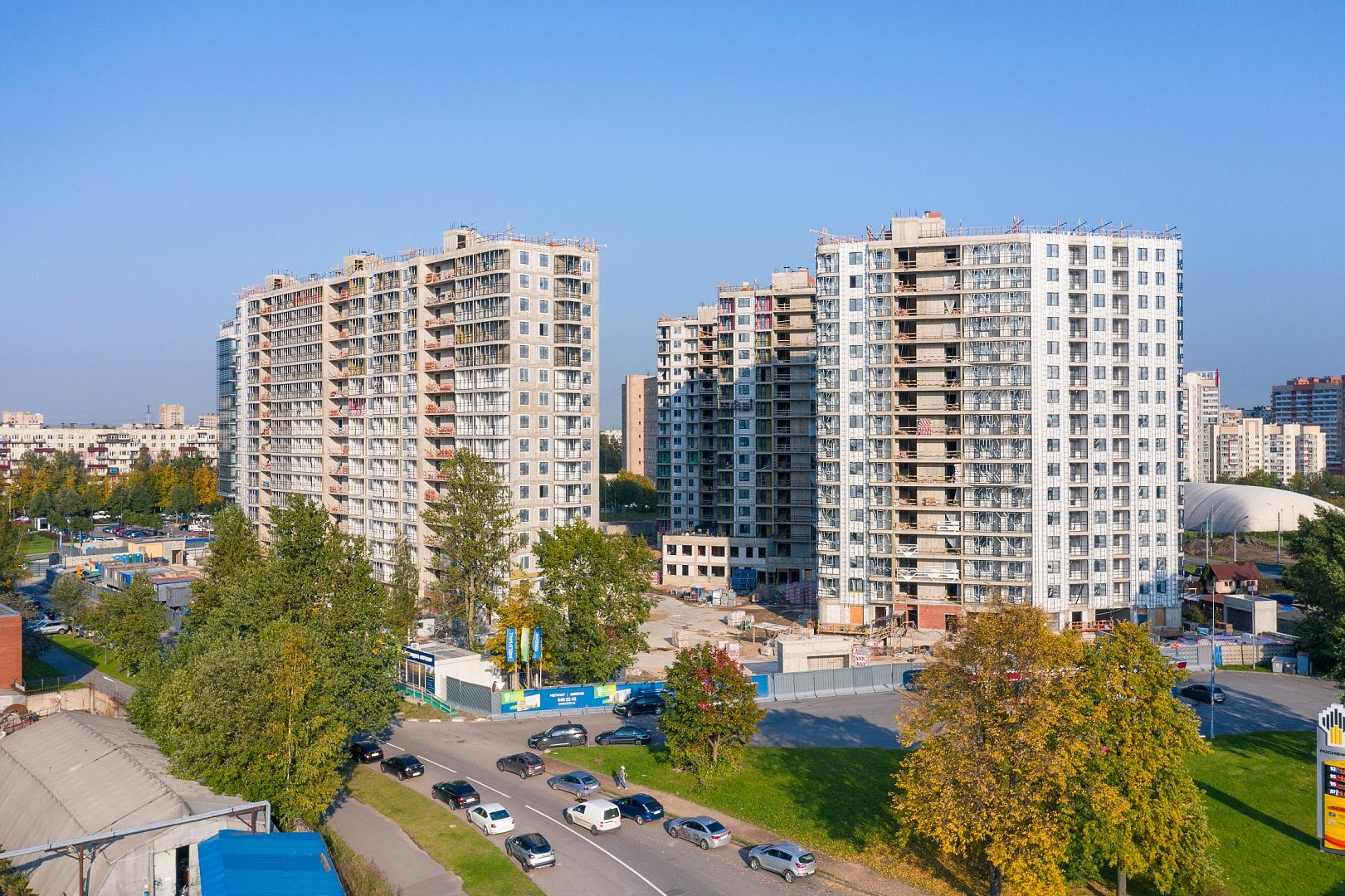 Ход строительства ЖК «Дом на Львовской» в сентябре 2020