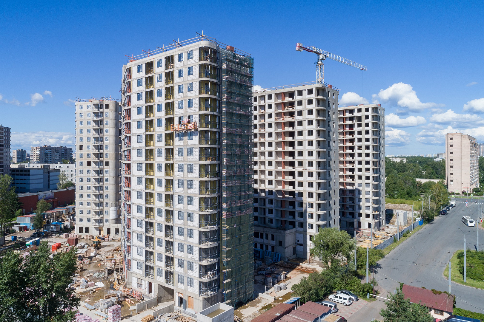 Ход строительства ЖК «Дом на Львовской» в июле 2020