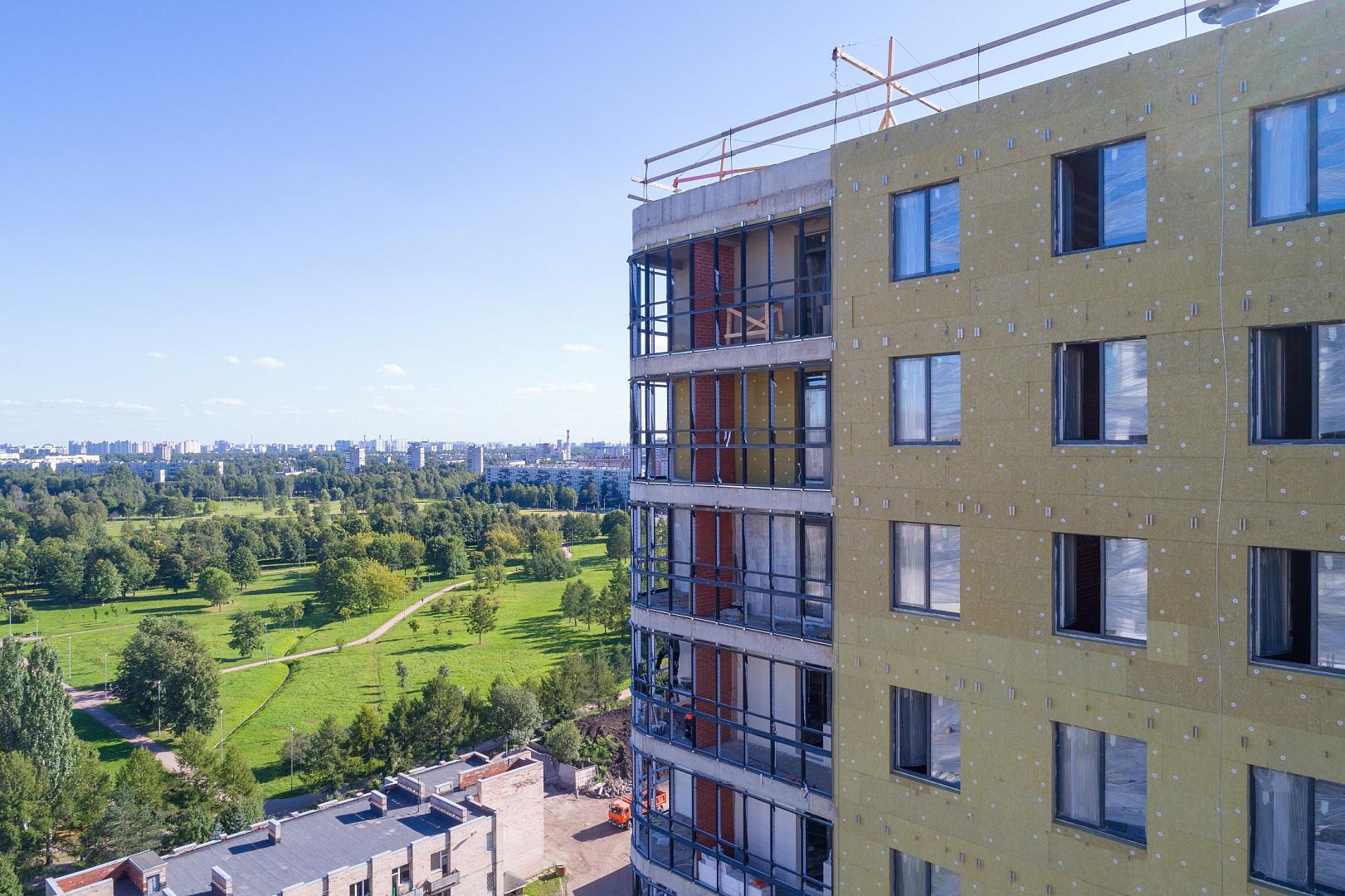 Ход строительства ЖК «Дом на Львовской» в августе 2020